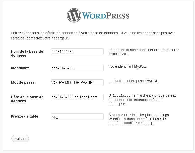 prefixe table wordpress