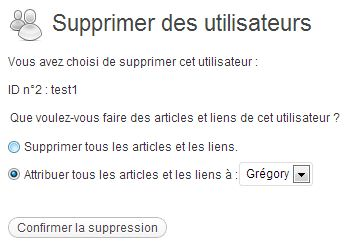 suppression utilisateurs wordpress