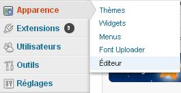 Editeur WordPress