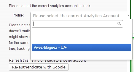 Google analytics for wordpress3