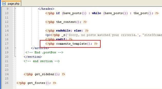 Activer les commentaire dans page WordPress